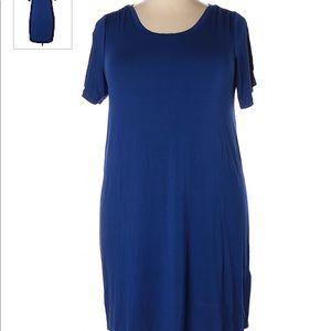 Anthropologie Cynthia Rowley blue tshirt dress TJX
